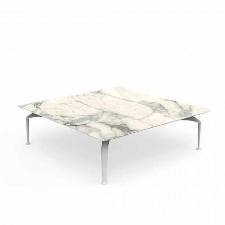 Venkovní konferenční stolek Calacatta Stoneware Square - Cruise Alu od Talenti