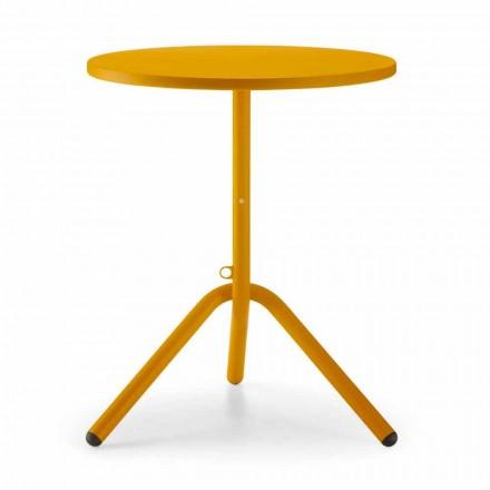 Kulatý venkovní kovový a plechový stůl vyrobený v Itálii - Alberic