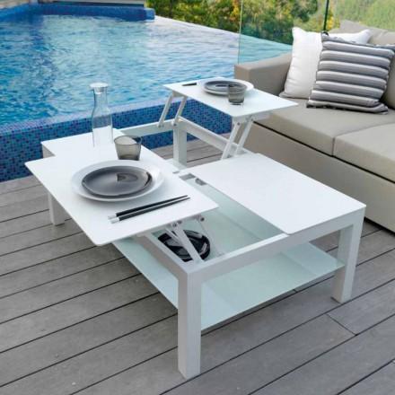 Otevřený zahradní stůl, skleněná špička Chic Grande