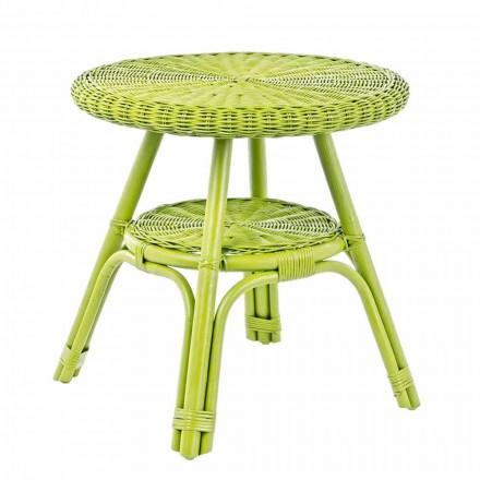 Kulatý zahradní ratanový stolek, průměr 52 cm - Favolizia