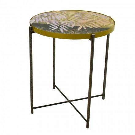Vnitřní nebo venkovní konferenční stolek s kovovou konstrukcí vyrobený v Itálii - Carim