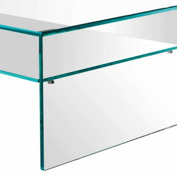 Bridge konferenční stolek z extra čirého skla Vyrobeno v Itálii - Tifrana