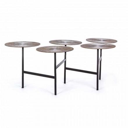 Konferenční stolek Homemotion s 5 kulatými hliníkovými deskami - Pollino