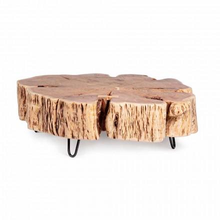 Konferenční stolek Homemotion s tvarovanou deskou v akátovém dřevě - Nabucco