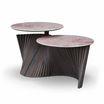 Luxusní konferenční stolek se 2 kulatými deskami v Gresu vyrobený v Itálii - Stockholmu