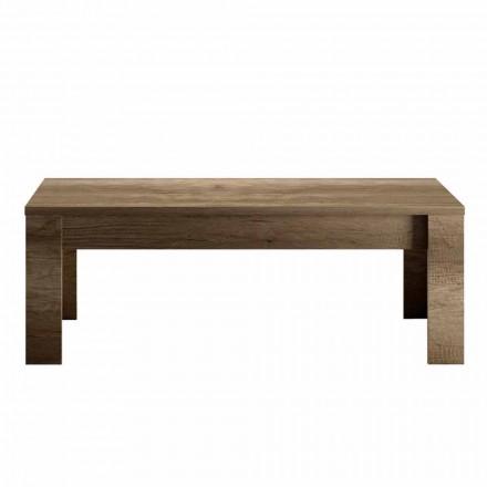 Designový konferenční stolek v dubovém nebo bílém melaminu vyrobený v Itálii - Terno