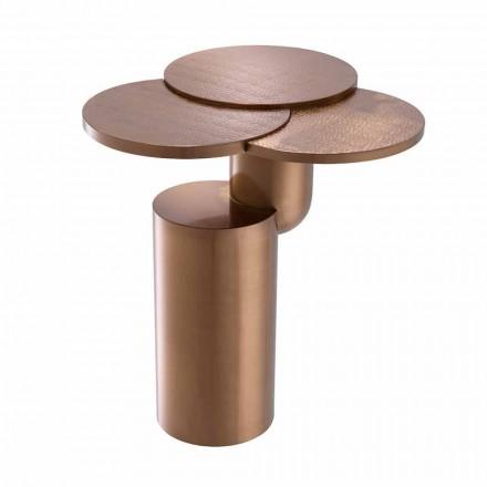 Designový konferenční stolek z oceli s povrchovou úpravou z leštěné mědi - Olbia