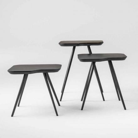 Luxusní konferenční stolek s masivní jasanovou deskou vyrobený v Itálii - Ulma
