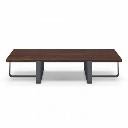Luxusní konferenční stolek z barevného kovu a dřeva - Anacleto
