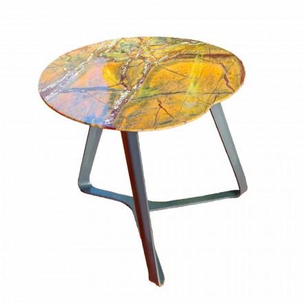 Konferenční stolek vyrobený z mramoru a oceli vyrobený v Itálii - Prince