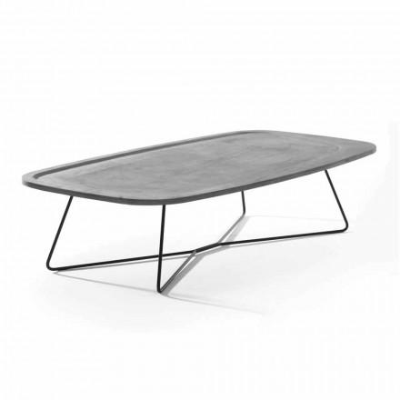Konferenční stolek z cementu s kovovou strukturou vyrobený v Itálii - Evolve