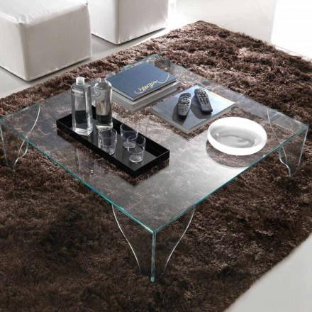 Konferenční stolek z čirého transparentního křišťálu vyrobený v Itálii - lithium