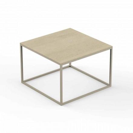 Zahradní konferenční stolek, horní hranatý efekt z mramoru - Suave od Vondom