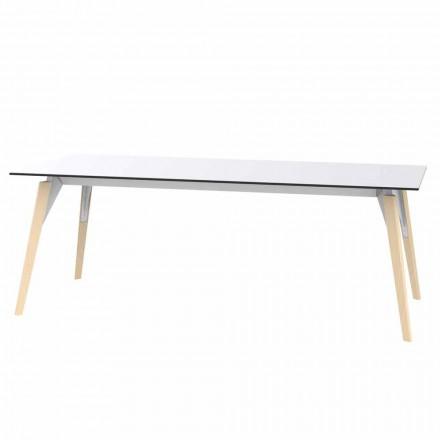 Konferenční stolek v bílém nebo černém laminátu ve 2 velikostech - Faz Wood od Vondom