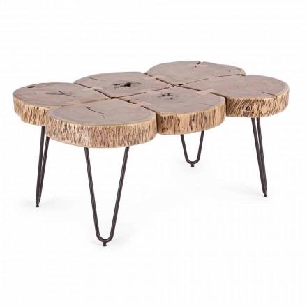 Konferenční stolek z akáciového dřeva a lakované oceli Homemotion - Havana