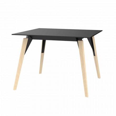 Konferenční stolek ze dřeva a HPL různých barev 2 velikosti - dřevo Faz od společnosti Vondom