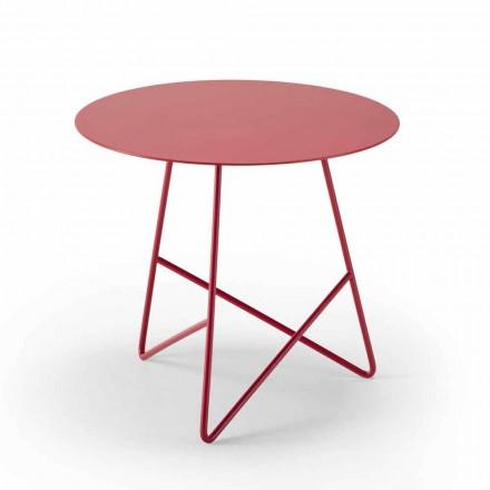 Konferenční stolek z barevného kovu a 3 rozměrů, vyrobený v Itálii - Magali
