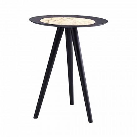 Moderní konferenční stolek s kulatou deskou v Gresu vyrobený v Itálii - Stuttgart
