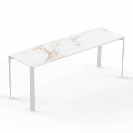 Moderní vnitřní nebo venkovní konferenční stolek z hliníku - Tablet od Vondom