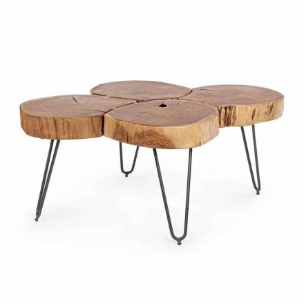 Moderní konferenční stolek Homemotion ze dřeva a lakované oceli - Severo