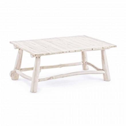 Moderní konferenční stolek Homemotion v odbarvených teakových větvích - Bambo