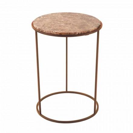 Moderní kulatý konferenční stolek z kovu a vysoce kvalitního mramoru - Raphael