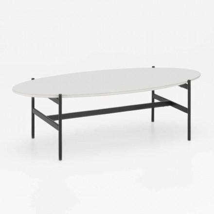 Moderní design oválný obývací pokoj stůl s keramickou deskou - Donatella