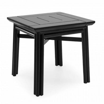 Venkovní konferenční stolek z přírodního nebo černého dřeva, 2 velikosti - Suzana