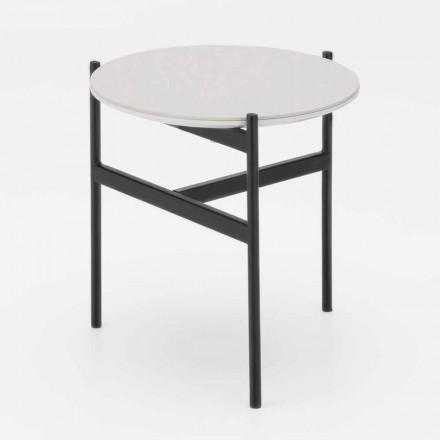 Moderní design Keramický a kovový kulatý konferenční stolek - Gaduci