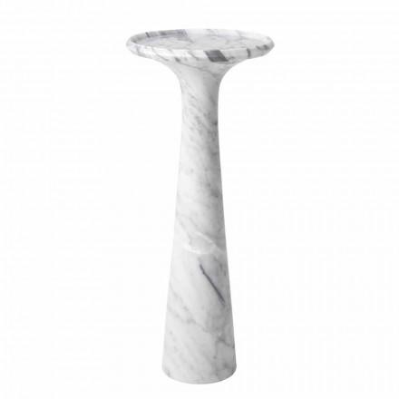 Kulatý konferenční stolek v bílém mramoru Carrara - Udine