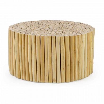 Kulatý konferenční stolek tvořený teakovými větvemi Homemotion - ratolest