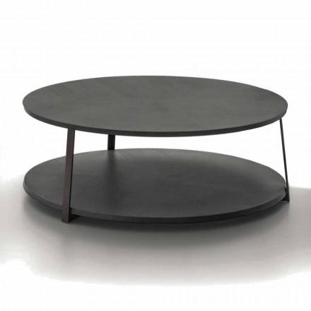 Kulatý konferenční stolek z MDF s kovovou strukturou vyrobený v Itálii - Aloe