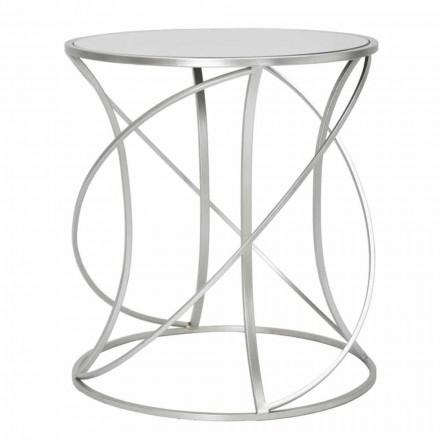 Moderní styl kulatý železný a zrcadlový konferenční stolek - Cymone