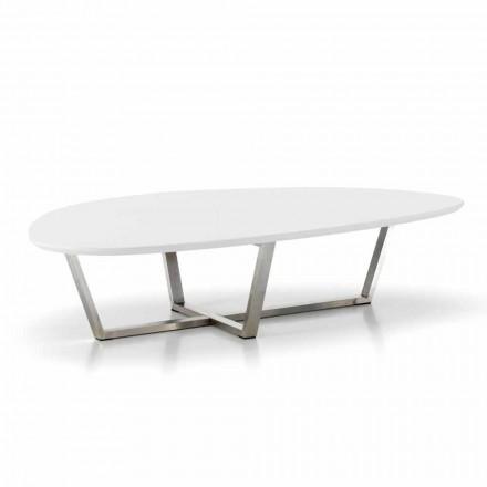 Moderní tvarovaný salonek s bílým topem MDF - připraven