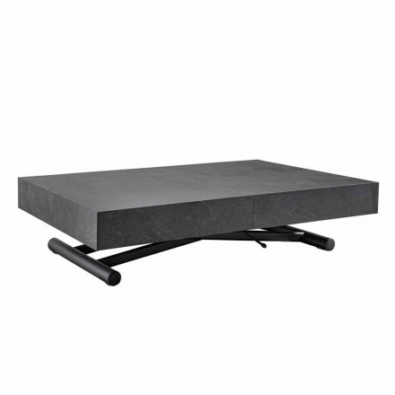 Transformovatelný konferenční stolek s povrchovou úpravou z dřevěného břidlice - Ademo