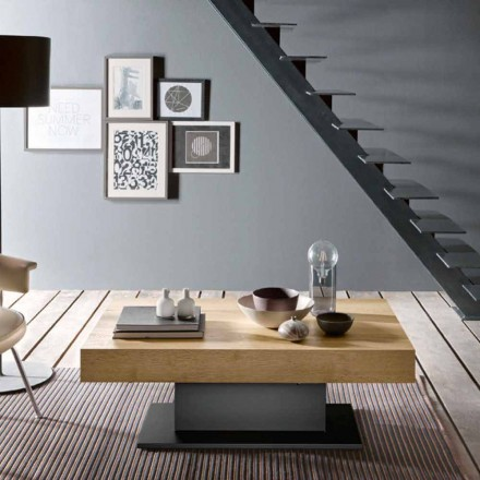 Transformátorový stůl ze dřeva a oceli vyrobený v Itálii - Demetro
