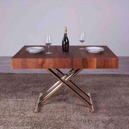 Proměny konferenčního stolku ze dřeva a kovu vyrobené v Itálii - Patroclo