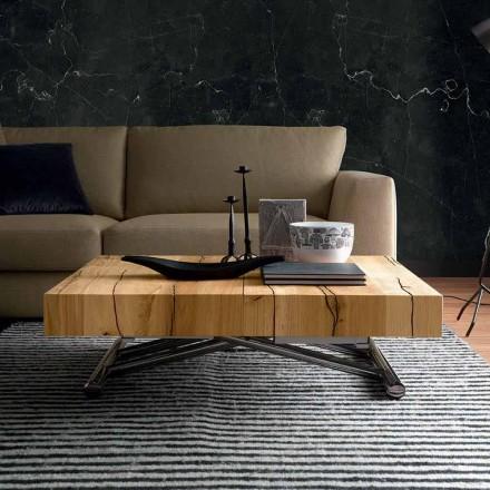 Konferenční stolek z masivního dřeva vyrobený v Itálii - Trabucco