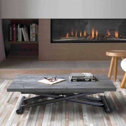 Transformovatelný kovový konferenční stolek s melaminovou deskou - Sandero