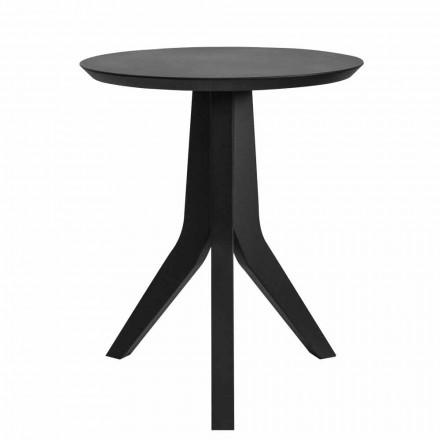 Konferenční stolek z černého lakovaného dřeva v moderním kulatém designu - Sperone