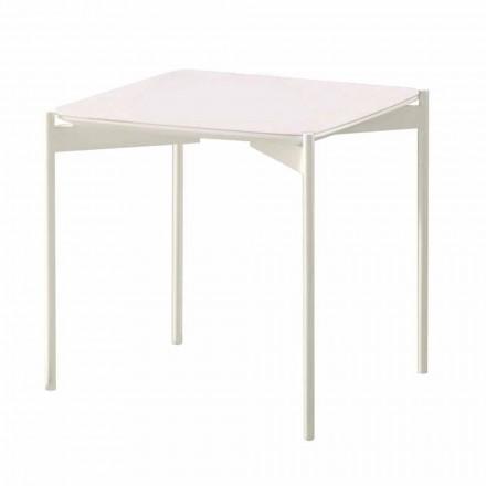 Moderní designový keramický a kovový čtvercový konferenční stolek - dikobraz