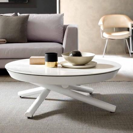 Keramický konferenční stolek přeměnitelný na jídelní stůl, vyrobený v Itálii - Azelio