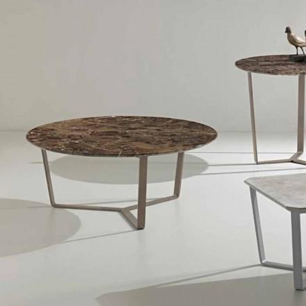 Kulatý konferenční stolek z císařského mramoru, moderní design, Adone