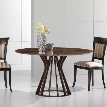 Jídelní stůl z tmavého mramoru císaře, moderní design, Cesare