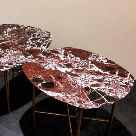 Designový stůl v Levanto Red Marble and Metal, vyrobený v Itálii - Morbello