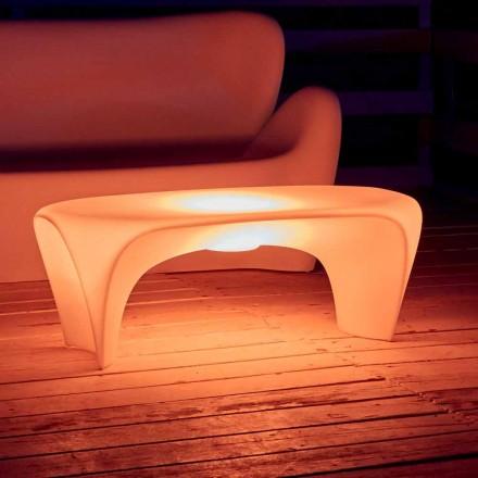 Světelný konferenční stolek RGB pro venkovní nebo vnitřní design z plastu - Lily od Myyour