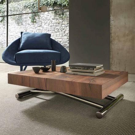Moderní transformovatelný konferenční stolek ze dřeva a kovu, vyrobený v Itálii - Spirit