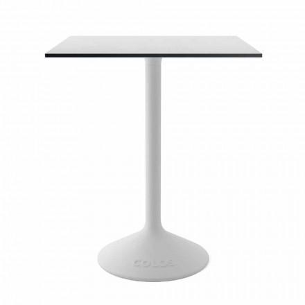 Moderní konferenční stolek v litinovém kovu a HPL pro venkovní provedení v Itálii - Colby