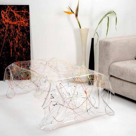 Moderní stůl vyrobený z vícebarevné plexisklo vyrobené v Itálii, Asii
