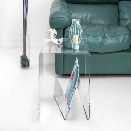 Moderní design malý stůl / časopis stojan, v plexisklo, Cavour